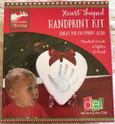 Heart Shaped Handprint Footprint Pawprint Keepsake Ornament Kit