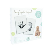 Tiny Ideas Baby's Touch Ink Pad and Imprint Card Set, Black