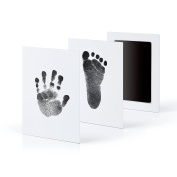 "3-Pack Extra Large Baby Safe ""Inkless Touch"" Handprint and Footprint Ink Pads, 100% Non-Toxic & Mess Free"