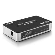 TNP 3 Port HDMI Switch 4K with Remote Control - Selector Box Supports 4K 60Hz, HDR, HDCP 2.2, Ultra HD UHD 4Kx2K @ 60Hz / 30Hz, 1080P, 3D, High-Speed HDMI Video Audio, Manual Automatic Switching Hub