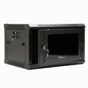 NavePoint 6U Wall Mount Consumer Series Server Cabinet Network Enclosure Locks, Fan