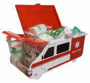[New Product Launch] First Aid Kit For Baby & Child Care in American Ambulance - Compact and Travel Friendly, Perfect for Home, Boat, Caravan, Car