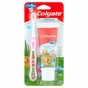 Colgate My First Toothbrush and Toothpaste Starter Kit - Pink, Ages 0-2
