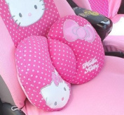 Hello Kitty Sanrio Comfortable Lumbar Back Cushion pink by H-M Shop by Hello Kitty