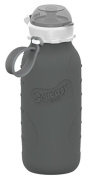 Squeasy Sport 470ml Silicone Collapsible Bottle - Grey