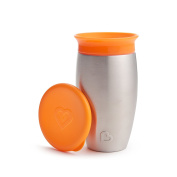 Munchkin Miracle Stainless Steel 360 Sippy Cup, Orange, 300ml