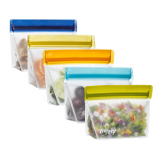 rezip Stand-Up 1-Cup240ml Leakproof Reusable Storage Bag 5-Pack