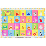 60 Pack - Disposable Placemats - Children's ABC Table Topper