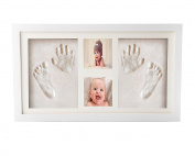 Premium Newborn Baby Hand print and Footprint Photo Frame Kit - Cool & Unique Baby Shower Gifts for Registry, Memorable Keepsakes Decorations , Christening Gift, Toddlers Birthday Presents