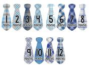 Monthly Baby Stickers Necktie Tie Boy Month Milestone Sticker Months in Motion