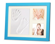 Ninos Baby Footprint, Handprint and Wooden Picture Frame Kit – Memory Maker for Growing Infants and Toddlers – Soft, Nontoxic Clay – Best Baby Shower or Maternity Gift