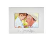 Tiny Ideas Keepsake Sentiment Photo Frame, I Love Grandpa, Silver