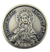 Religious Gift Immaculate Heart of Mary Blessed Mother Madonna Pocket Token