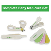 Baby Nail Clipper Set By Lebogner - Complete 4 Piece Grooming Kit for Any Child Age Includes Nail Clipper, Scissor, Filer and Nasal Tweezer, Newborn or Infant Manicure Set