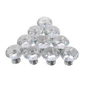 AMA(TM) 5PCS 30mm Diamond Crystal Glass Cupboard Wardrobe Cabinet Dresser Drawer Knob Door Pull Handle for Cabinet, Drawer, Chest, Bin, Dresser, Cupboard