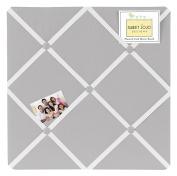 Solid Grey Fabric Memory/Memo Photo Bulletin Board