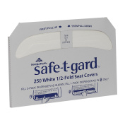 Georgia-Pacific Safe-T-Gard 47046 White 1/2-Fold Toilet Seatcover, 43cm Length x 37cm Width