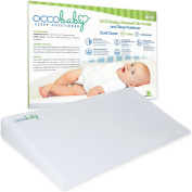 OCCObaby Universal Crib Wedge and Sleep Positioner for Baby Mattress   Waterproof Layer & Handcrafted Cotton Removable Cover   12-degree Incline for Better Night's Sleep