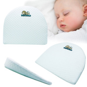 Universal Bassinet Wedge and Baby Sleep Positioner with Handcrafted Cotton Removable Cover | this memory foam pillow has 12 degree incline for Better Night's Sleep also used as Pregnancy Pillow Wedge