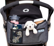Deluxe Stroller Organiser | Universal Fit, Two Insulated Cup Holders, Lightweight Design | Lifetime 100% Satisfaction Guarantee!