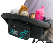 Ultimate Stroller Organiser Bag–Making Life Easier for Busy Mums on the Go. Universal Fit with Multi-Pockets, Insulated Deep Cup Holder and Storage for Phones & Accessories. BONUS baby changing mat.
