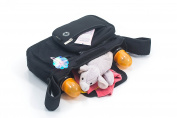 2 in 1 Stroller Organiser and Baby Bag - 5 Compartments, Lots of space, Light and Durable
