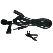 3.5mm Lavalier Microphone Lapel Mic Mini Microphone For Iphone Ipad Ipod for Samsung Android and Smartphones Black
