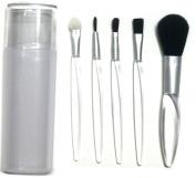 5 Pieces Professional Makeup Brush Set Cosmetics Brushes Kit with Brush Holder