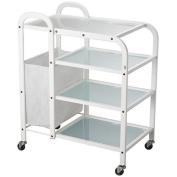 USA Salon and Spa Dual 4 Tier Wax Glass Trolley USA-1031
