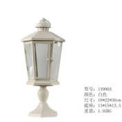 Continental minimalist lighthouse ceiling candle holder/Courtyard Wind Light/romantic wedding-way/bar restaurant decorations ornaments ,white,18*22*50cm