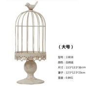 The Nordic retro birdcage iron Candle/creative floral rack American household living room decoration is part/,13.5*13.5*36cm Wedding Gifts