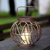 Replicas of classical Chinese creative container brush Kim lanterns iron Candle/European and American Home Hotel wedding ornaments ,20.5*18cm decorations