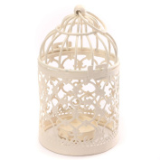Cdet Candlestick Hollow Flower Pattern Birdcage Candle Holder Wedding Party Home Decoration Birthday Gift White