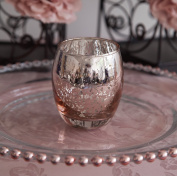 Xmas Glass Tea Light Candle Holder Rose Gold / Champagne / Silver 3 Sizes Wedding Decor Event