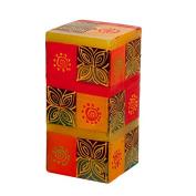 Kapula Cube Candle ' Desert Rose New Design ' 7 x 7 x 15 cm
