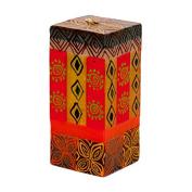 Kapula Cube Candle ' Desert Rose New Design ' 5 x 5 x 11 cm