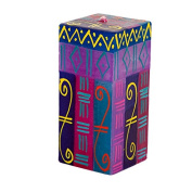 Kapula Cube Candle ' Blue Moon New Design ' 5 x 5 x 11 cm