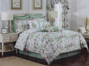 Williamsburg King Size Comforter Set from the Palace Green Bedding Collection Multi Colour RN 83364