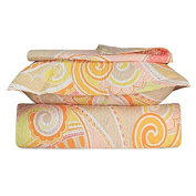 Beauty Bedding Orange and Pink 3 Peice Quilt Bed Set in Queen Size