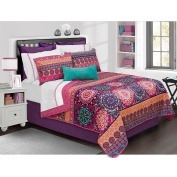 Safdie & Co. Aiyana Collection 3 Piece Quilt and Sham Set, Full/Queen
