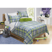 Safdie & Co. Dylan Collection 3 Piece Quilt and Sham Set, Full/Queen