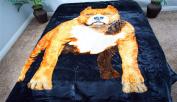 Bull Dog Bulldog Luxury Super Soft Medium Weight QUEEN size Mink Blanket 1ply