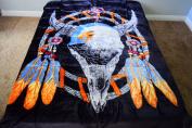 Bald Eagle Dreamcatcher Luxury Super Soft Medium Weight QUEEN size Mink Blanket 1ply