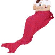 THEE Mermaid Tail Blanket for Adult Crochet Sleeping Blanket