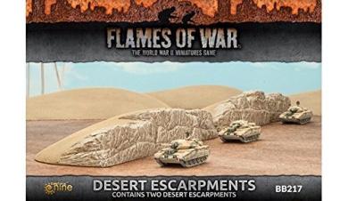 Flames of War Desert Escarpments Fully Painted (2)