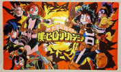 My Hero Academia TCG playmat, gamemat 60cm wide 36cm tall for trading card game smooth cloth surface rubber base