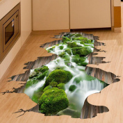 Vibola DIY 3D Stream Floor Wall Sticker Removable Mural Decals Vinyl Art Living home Room Decor