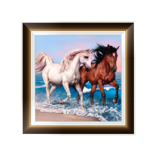 OHTOP DIY 5D Diamond Embroidery Horse Painting Cross Stitch Art Craft Home Decoration