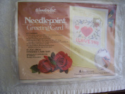 I Love You Needlepoint Greeting Card Kit