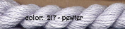 SILK & IVORY-PEWTER-217-2 SKEINS WITH THIS LISTING